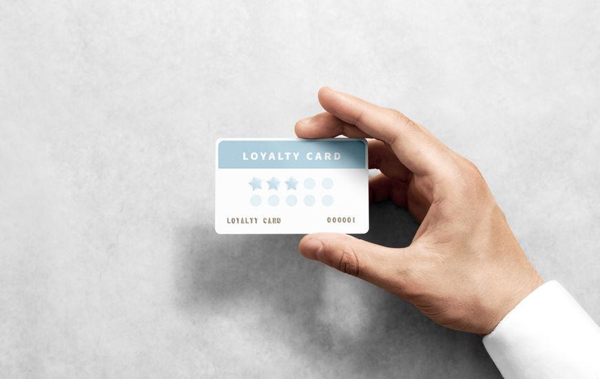 tipo de programa de fidelidad - tarjeta de sellos