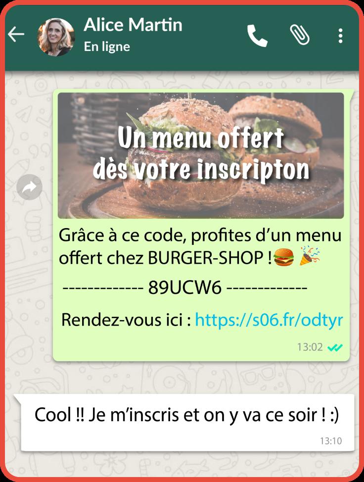 Parrainage avec Whatsapp